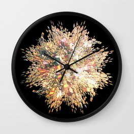 Pink Explosion Wall Clock