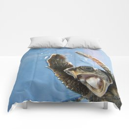 Screaming Turtle Comforters