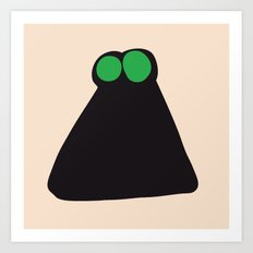 Confused Fly, Keyhole with Two Watermelons, Man Holding Binoculars, Frog... Art Print