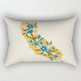 The Golden State of Flowers Rectangular Pillow