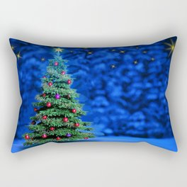 new year tree winter christmas tree christmas decorations xmas backgrounds new years eve christmas c Rectangular Pillow