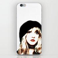 stevie nicks iPhone & iPod Skins featuring Stevie Nicks - Rhiannon - Pop Art by William Cuccio aka WCSmack