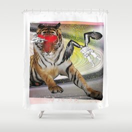 Gunpowder Eyes Shower Curtain