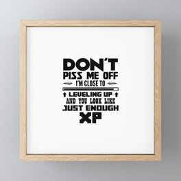 Don't Piss Me Off Framed Mini Art Print
