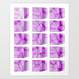 blocks & hearts Art Print