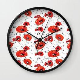 Poppin' Poppies Wall Clock