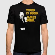 Word is bond. James Bond. Mens Fitted Tee Black SMALL