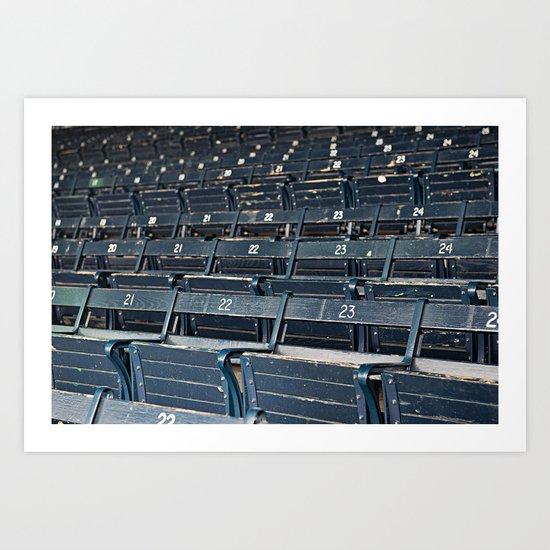 fenway grandstand Art Print
