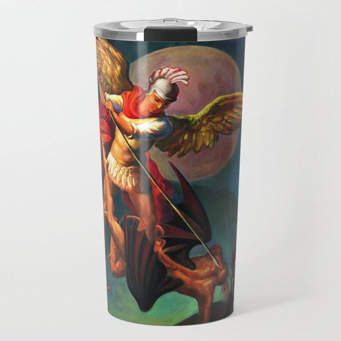 Saint Michael the Warrior Archangel Travel Mug