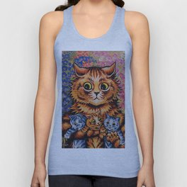 Cat and Her Kittens-Louis Wain Cats Unisex Tank Top