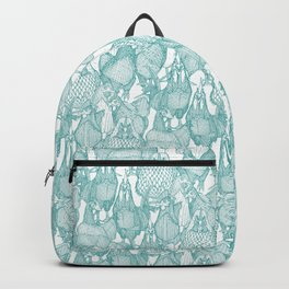 just chickens teal white Backpack