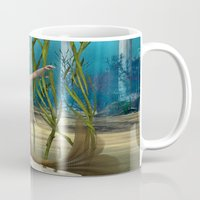 little mermaid Mugs featuring Little Mermaid by Design Windmill