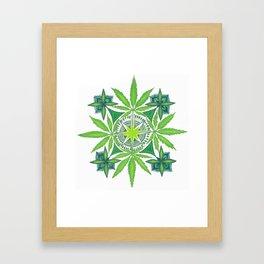 Potleaf Mandala Framed Art Print