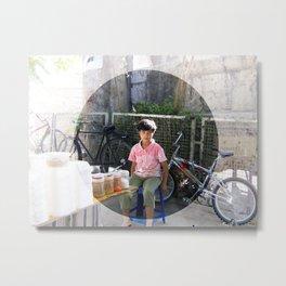 Young corn seller, Damascus Metal Print