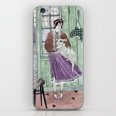 Girl with a sheep iPhone & iPod Skin