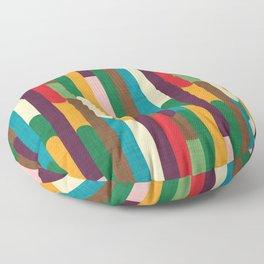 Retro Color Block Popsicle Sticks Floor Pillow