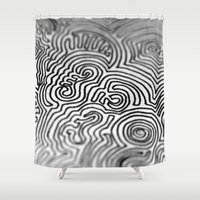 doodle Shower Curtains featuring Doodle by Emma Vallee Callinan