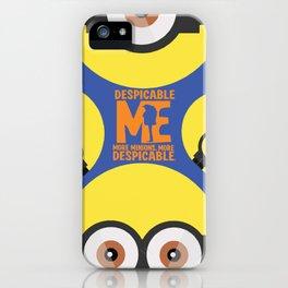 Gru, 3D animated movie poster, cartoon, children, minimalist playbill, Steve Carell iPhone Case