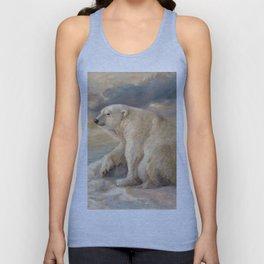 Polar Bear Rests On The Ice - Arctic Alaska Unisex Tanktop