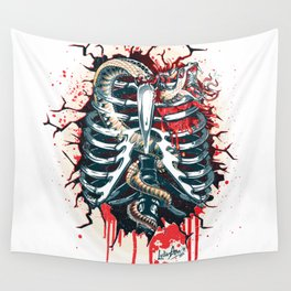 A Wounded Heart Wall Tapestry