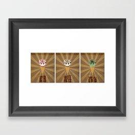 Three Flavours Cornetto Framed Art Print