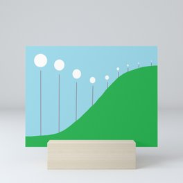 Abstract Landscape - Lights on the Hill Mini Art Print