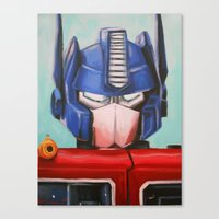 optimus prime Canvas Prints featuring Optimus Prime by Hillary White