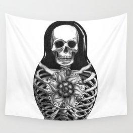 Matryoshka Skelton Doll Wall Tapestry