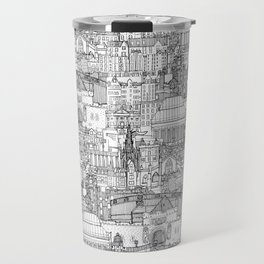 Edinburgh toile black white Travel Mug