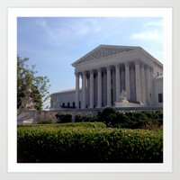 supreme Art Prints featuring Supreme Court by KatieKatherine