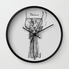 Believe Angel BW Wall Clock