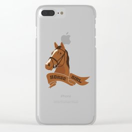 Horse Girl Clear iPhone Case