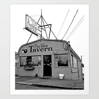 pee wee Art Prints featuring Pee Wee Tavern by Vorona Photography
