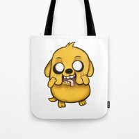 jake Tote Bags featuring Jake  by Kam-Fox
