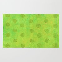 jojo Area & Throw Rugs featuring #51. JOJO - Dots by sylvieceres