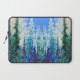 Western  Blue Modern Art Mountain Blue Winter Trees  Art Laptop Sleeve