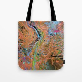 Fluid Copper - Abstract, original, fluid, acrylic painting Tote Bag