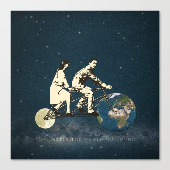 Love Makes The World Go Round Canvas Print