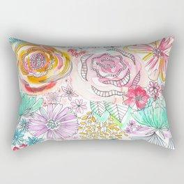Pastel Roses Rectangular Pillow