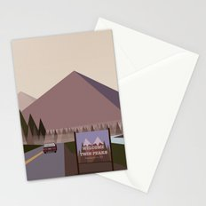 Welcome to Twin Peaks Poster Stationery Cards
