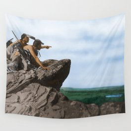 Watching The Herd - American Indians Wall Tapestry