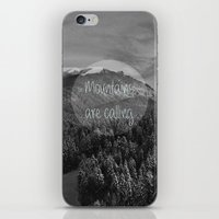 the mountains are calling iPhone & iPod Skins featuring the mountains are calling by monicamarcov