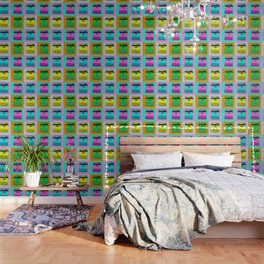 Let's warholize! Olivetti lettera22-style full of color Wallpaper