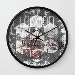Graphic Art LONDON Streetscene Wall Clock