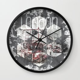 Graphic Art LONDON Streetscene Wall Clock