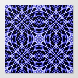 Blue Chaos 7 Canvas Print