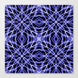 Blue Chaos 7 Canvas Print