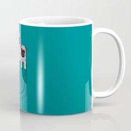 Pocket Pugs_Teal Coffee Mug