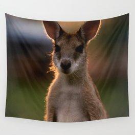 Australia Photography - Cute Baby Kangaroo Wall Tapestry