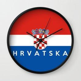 croatia country flag Hrvatska name text Wall Clock